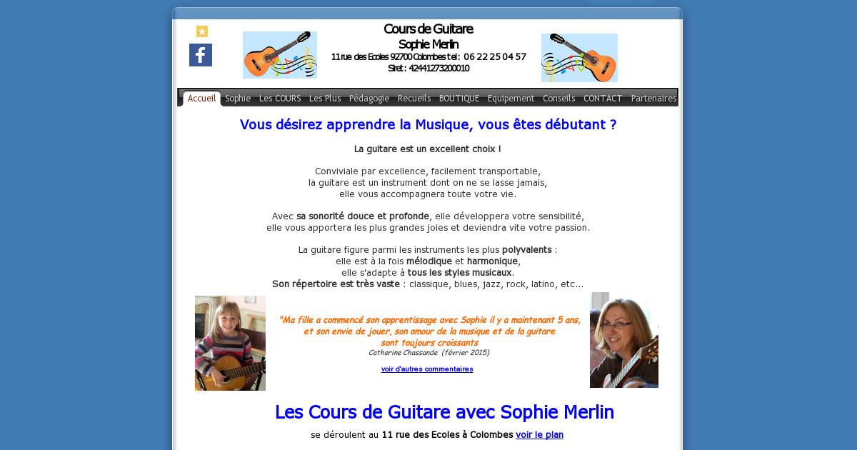 Contacter sophie merlin cour de guitare colombes 92 for Cours de cuisine colombes